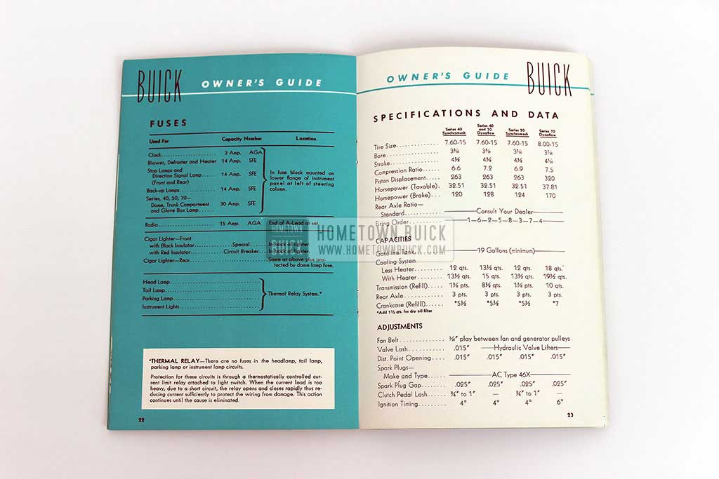 1952 Buick Owners Manual 08