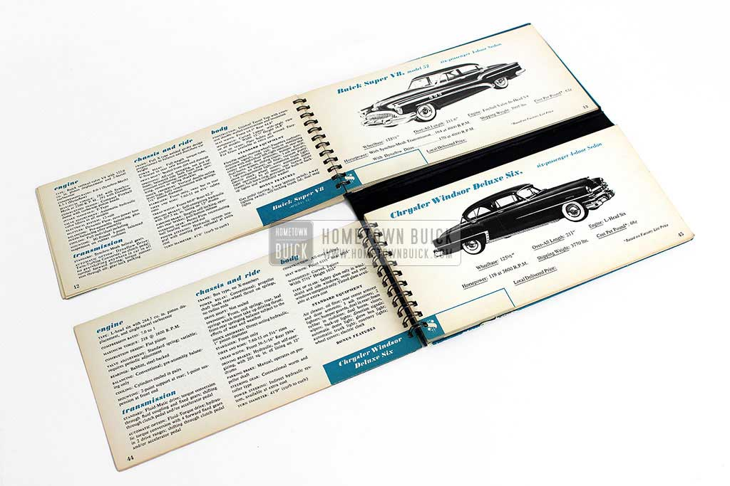 1953 Buick Match Book 06