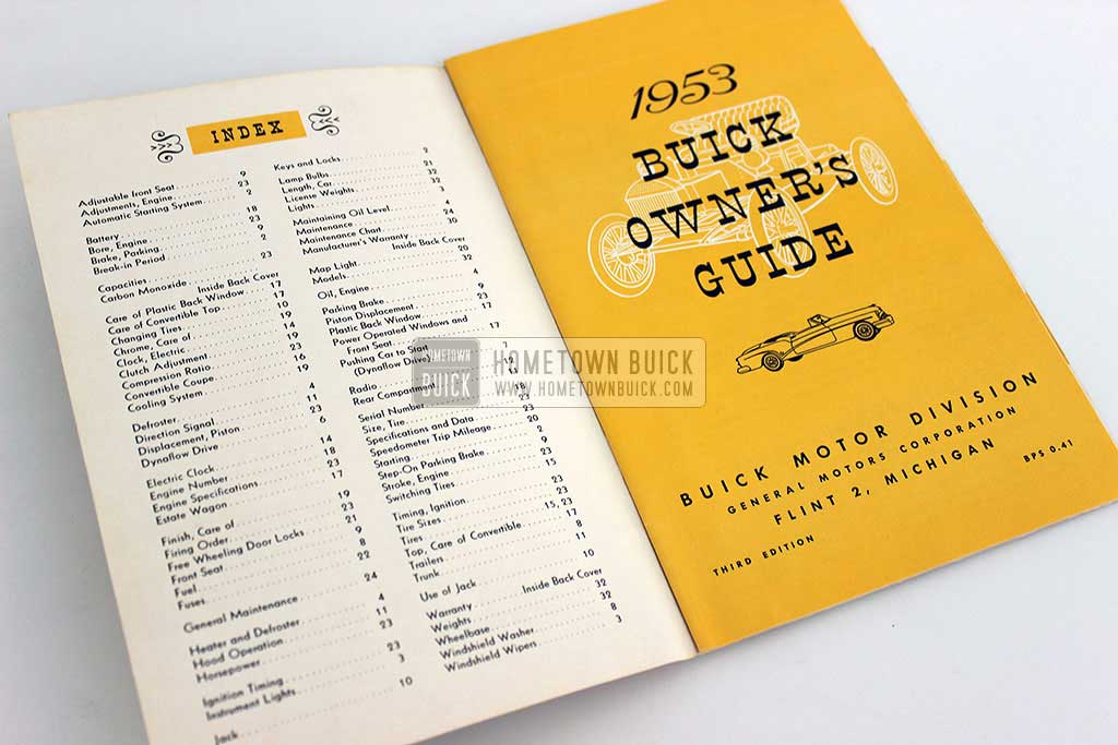 1953 Buick Owners Manual 03
