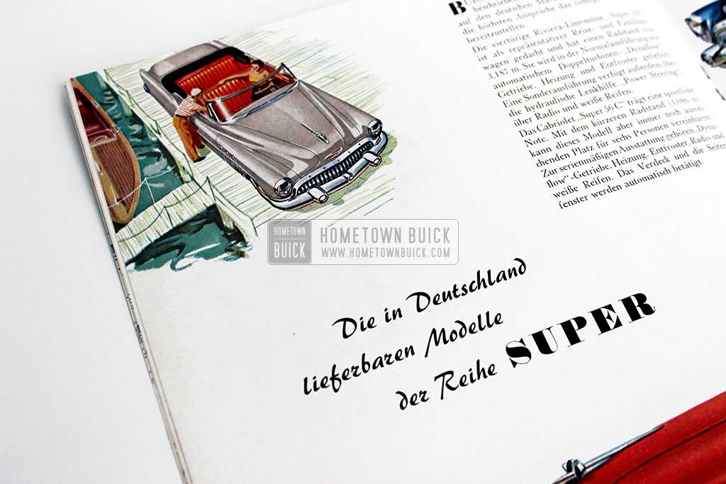 1953 Buick Sales Brochure (Germany) - Hometown Buick