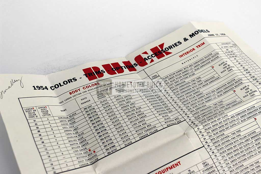 1954 Buick Car Order Form 02