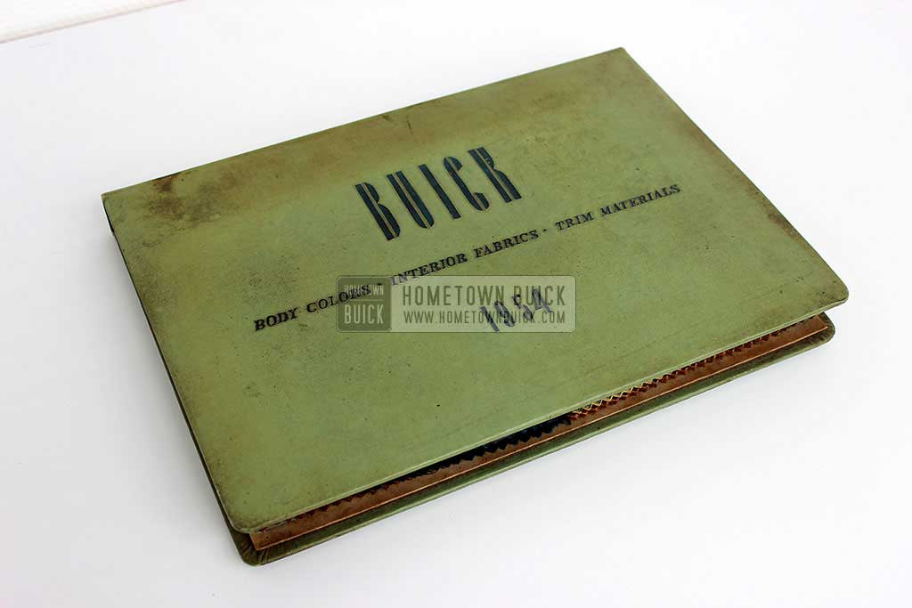 1954 Buick Colors & Fabrics Book 01