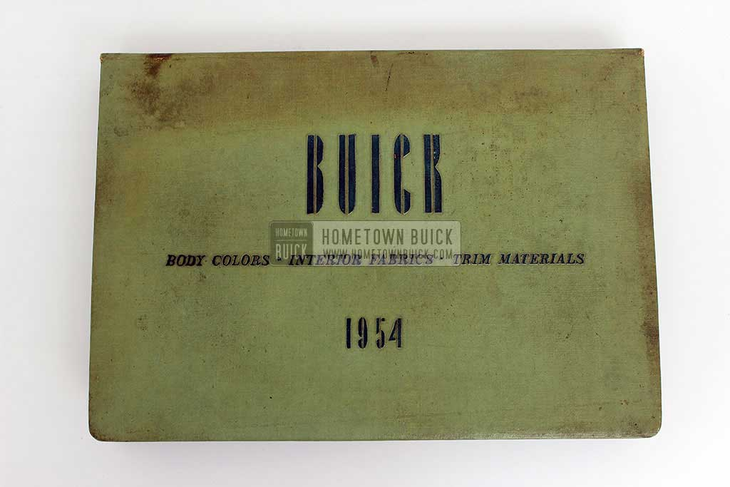 1954 Buick Colors & Fabrics Book 02