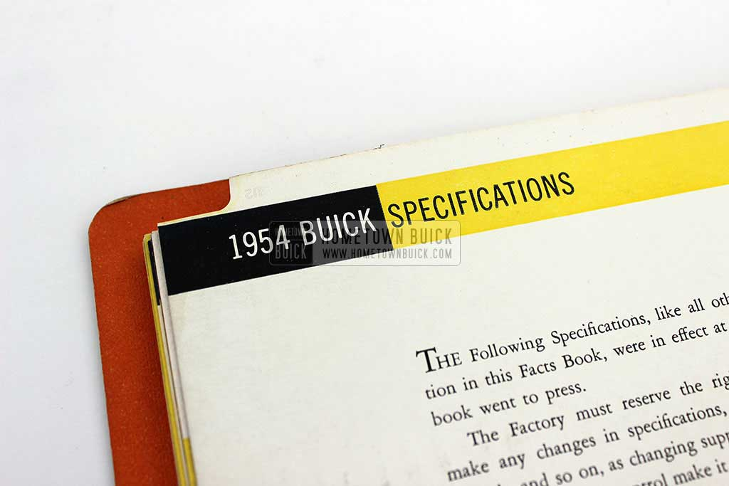 1954 Buick Dealer Facts Book 11