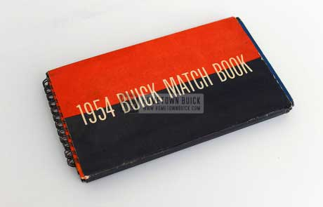 1954 Buick Match Book 01