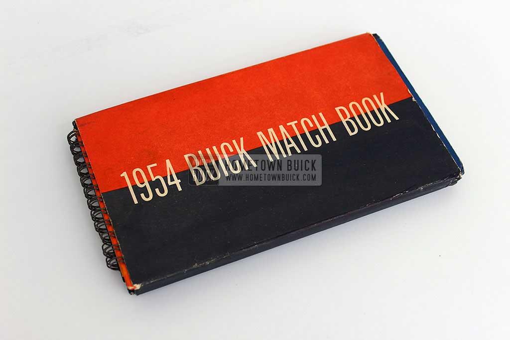 1954 Buick Match Book 01