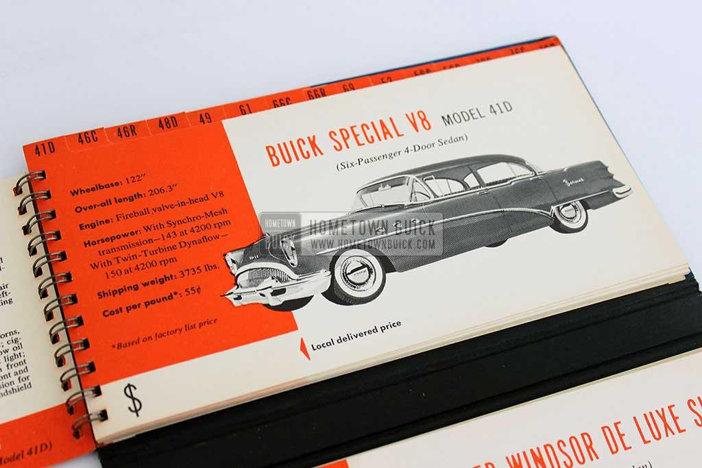 1954 Buick Match Book 12