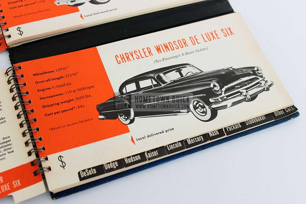 1954 Buick Match Book 13