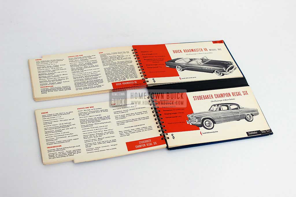 1954 Buick Match Book 16