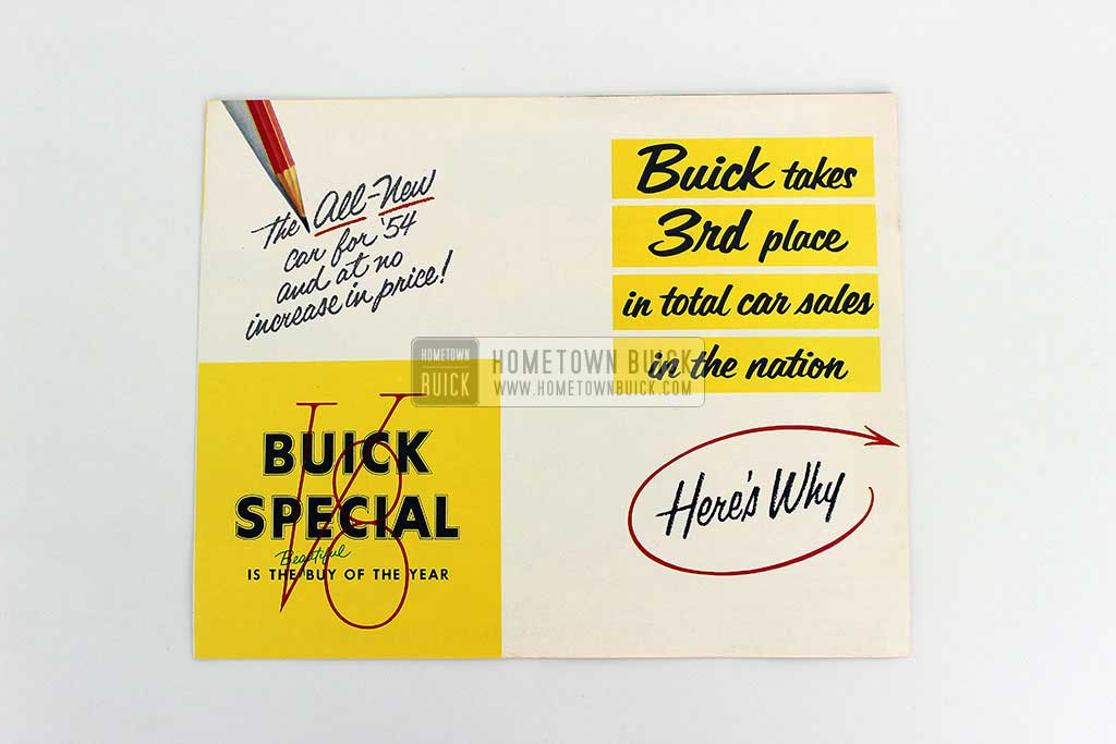 1954 Buick Special 3rd Place Flyer 02