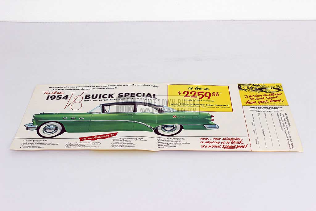 1954 Buick Special 3rd Place Flyer 03