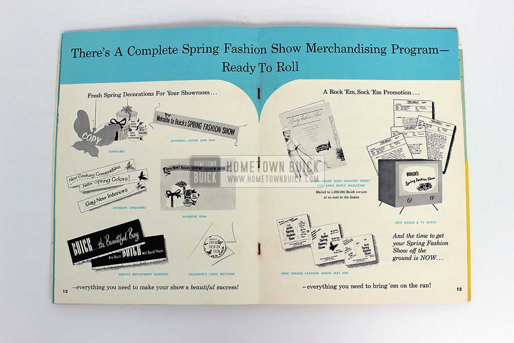 1954 Buick Spring Fashion Show Plan of Action 06