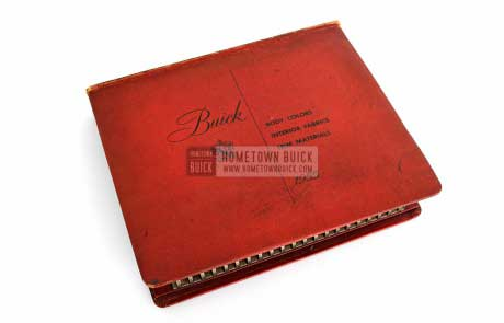 1955 Buick Colors & Fabrics Book 01