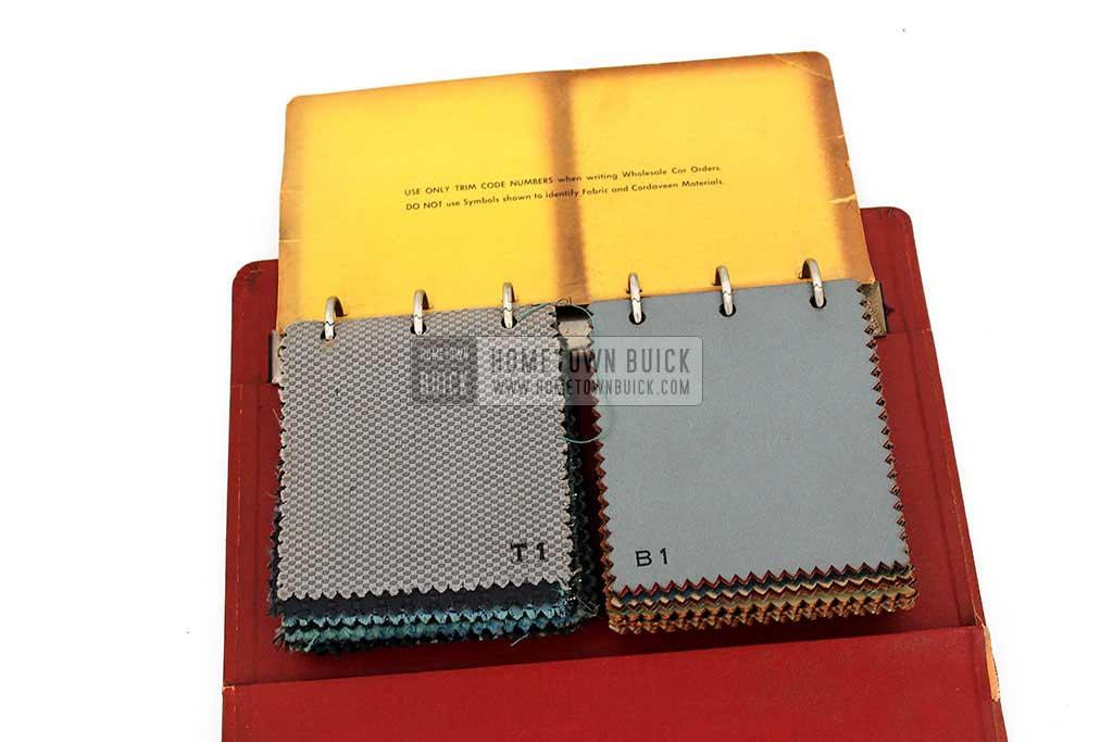 1955 Buick Colors & Fabrics Book 05