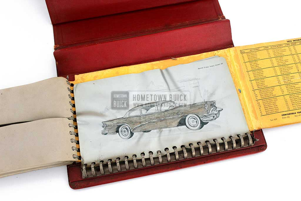 1955 Buick Colors & Fabrics Book 12