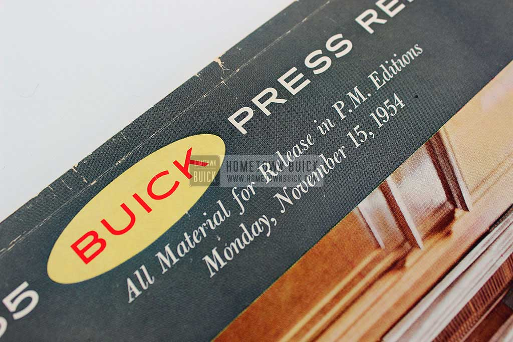 1955 Buick Press Release Kit 04
