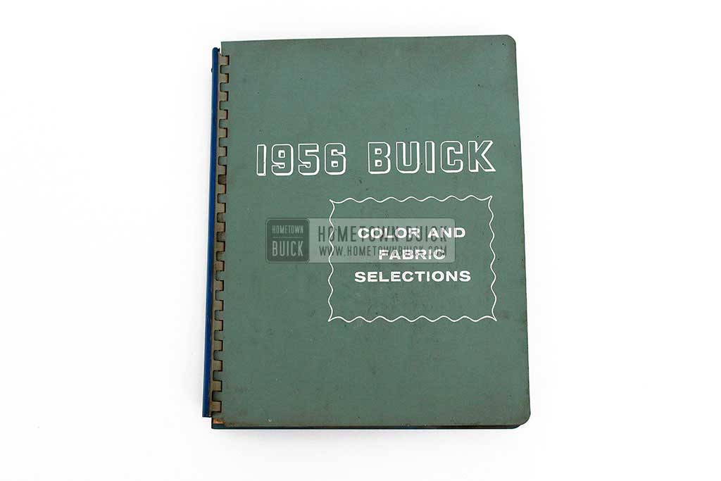 1956 Buick Colors & Fabrics Book 02