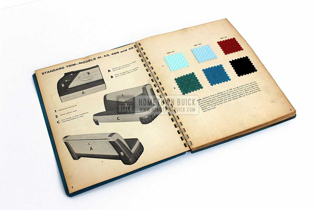 1956 Buick Colors & Fabrics Book 05