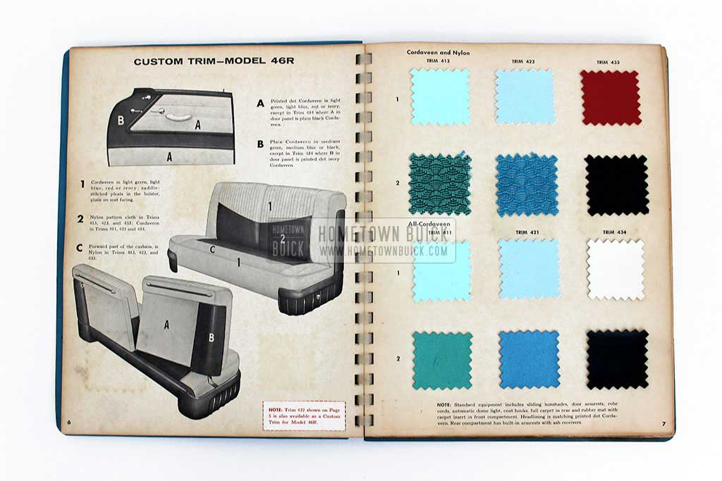 1956 Buick Colors & Fabrics Book 06