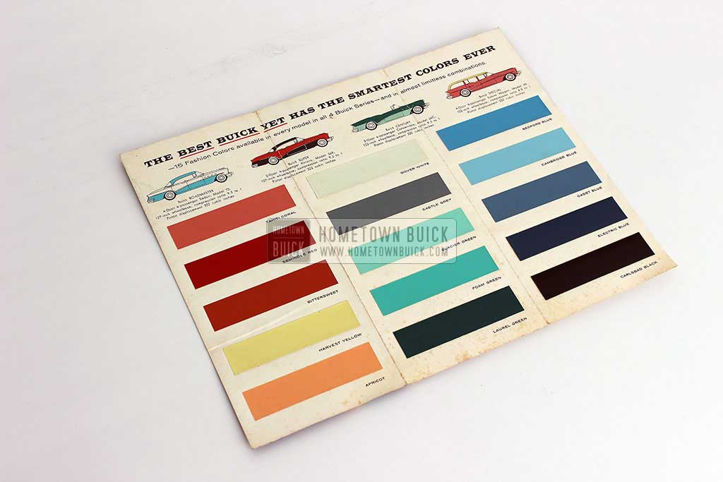 1956 Buick Fashion Colors Flyer 06