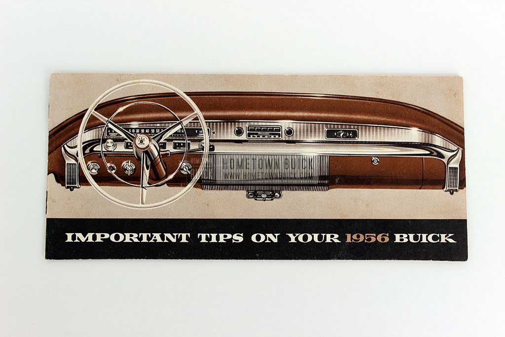 1956 Buick Important Tips Brochure 01