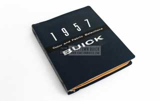 1957 Buick Colors & Fabrics Book 01
