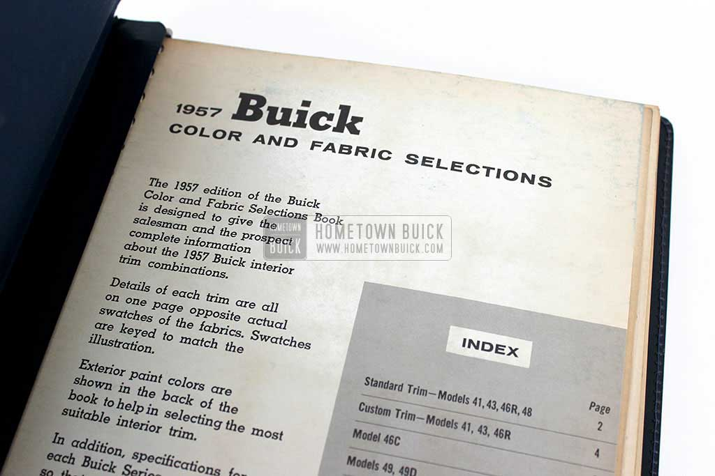 1957 Buick Colors & Fabrics Book 04