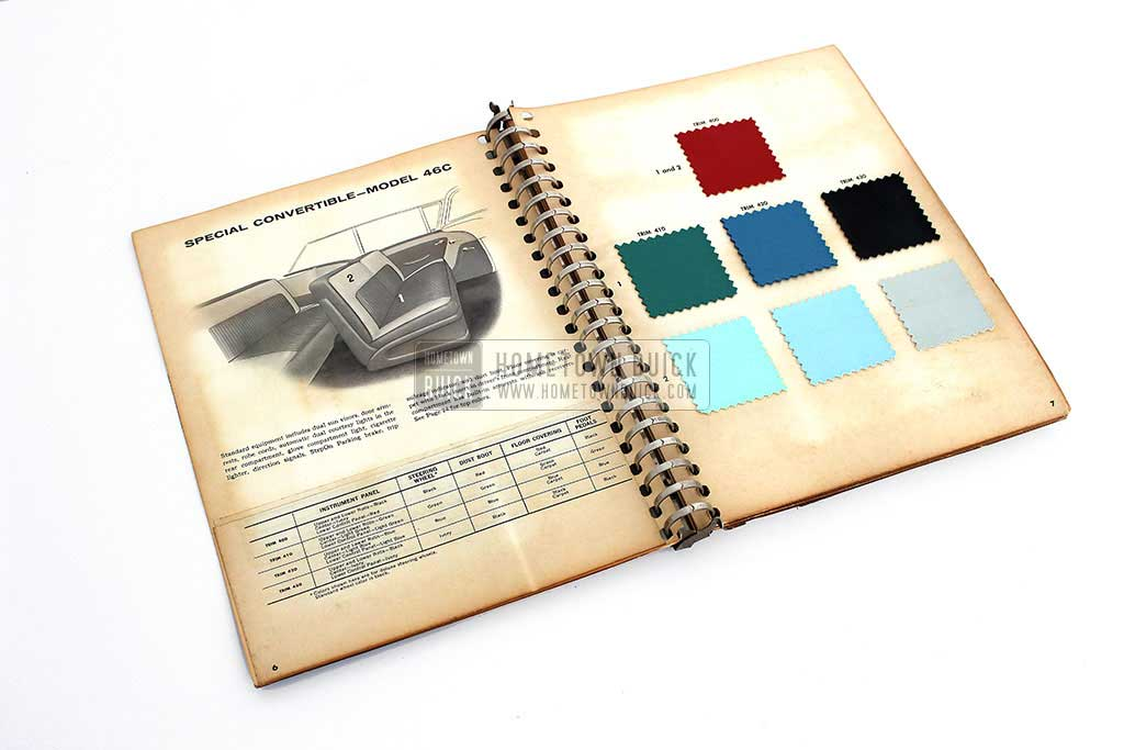 1957 Buick Colors & Fabrics Book 06