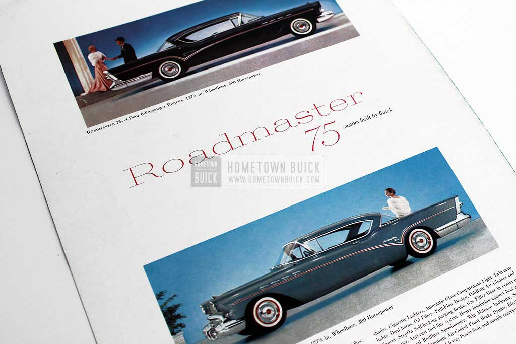 1957 Buick Roadmaster 75 Sales Brochure - Hometown Buick