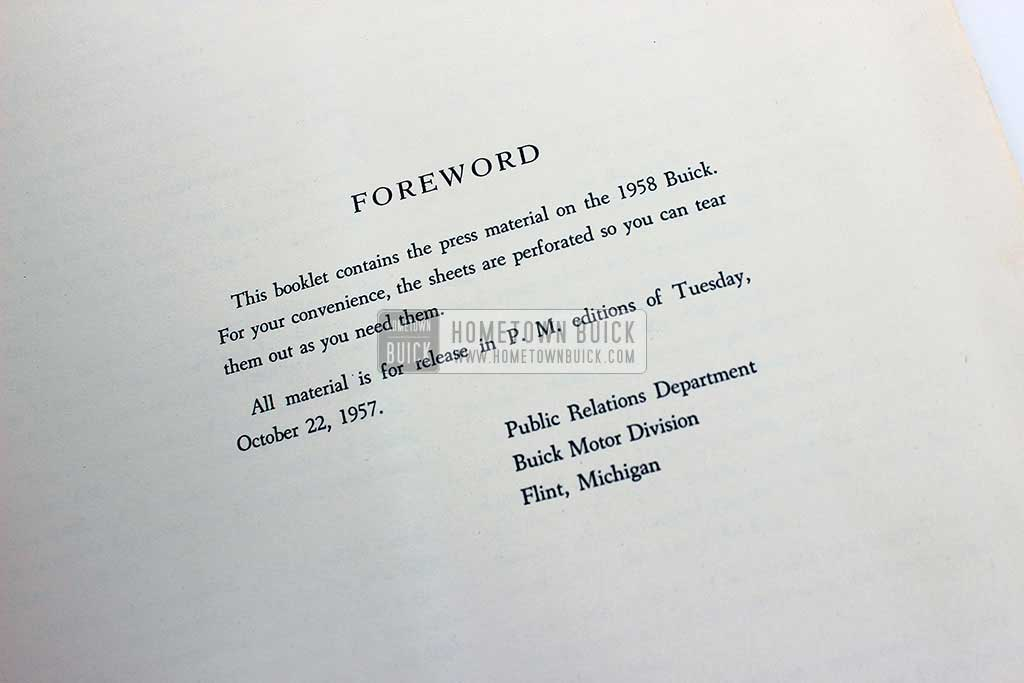 1958 Buick Press Release Kit 05