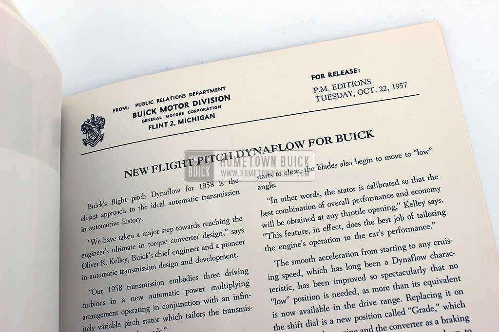 1958 Buick Press Release Kit 08