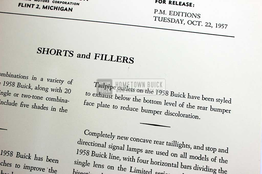 1958 Buick Press Release Kit 10