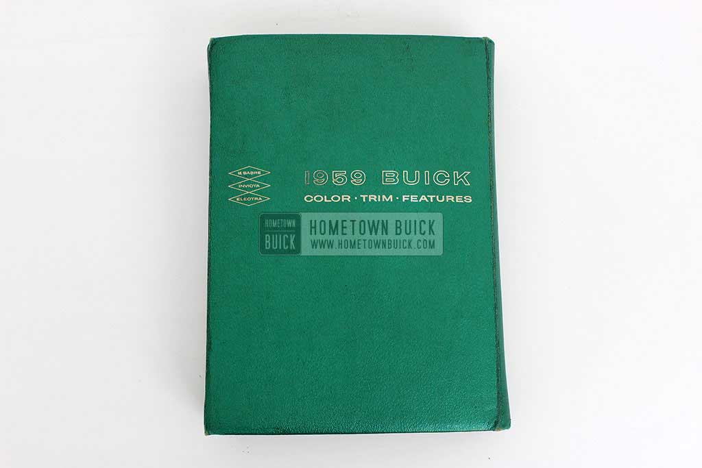 1959 Buick Showroom Album & Fabrics Book 02