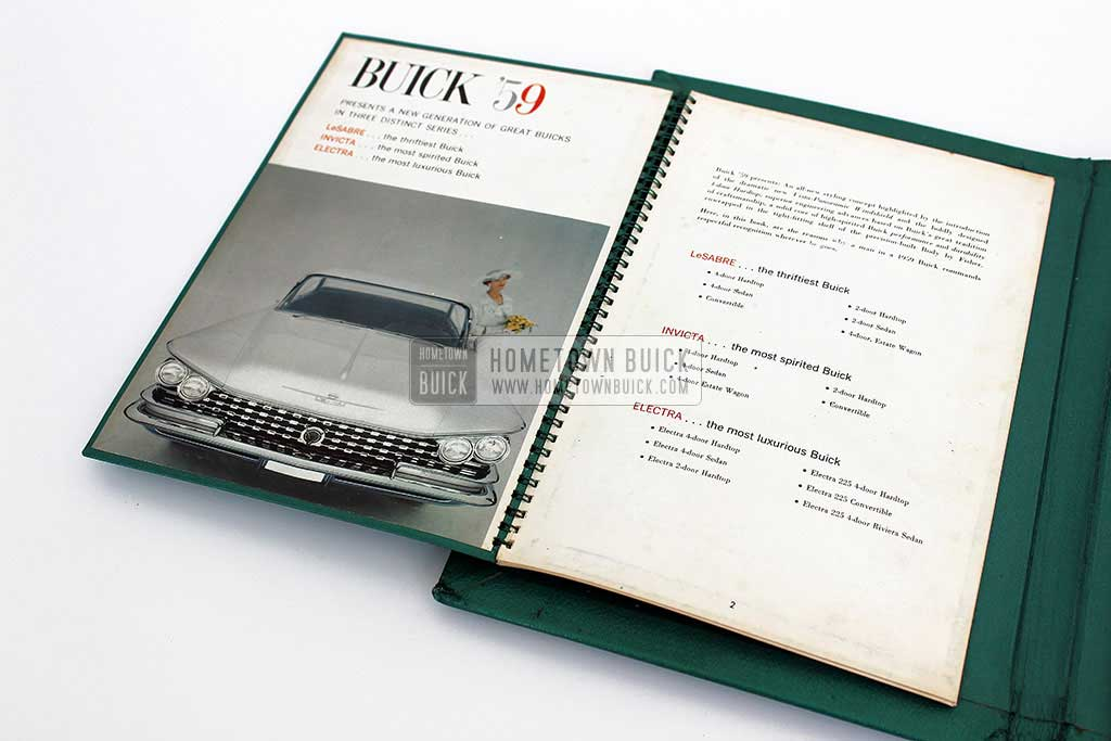 1959 Buick Showroom Album & Fabrics Book 06
