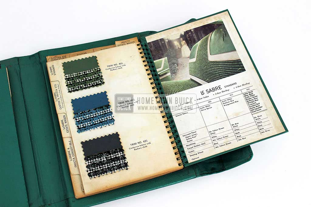 1959 Buick Showroom Album & Fabrics Book 10