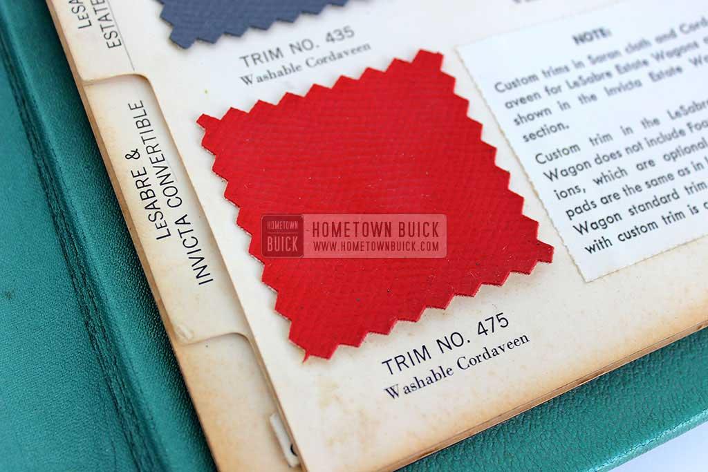 1959 Buick Showroom Album & Fabrics Book 12