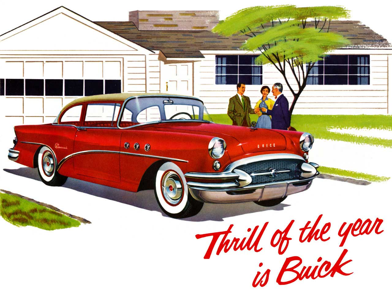 1955 Buick - Thrill of the Year is Buick