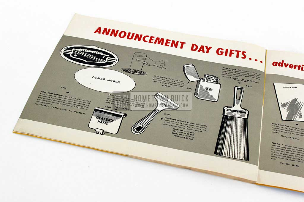 1952 Buick Announcement Material Brochure 04