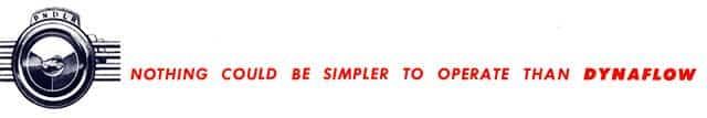 1953 Buick Dynaflow Transmission Slogan