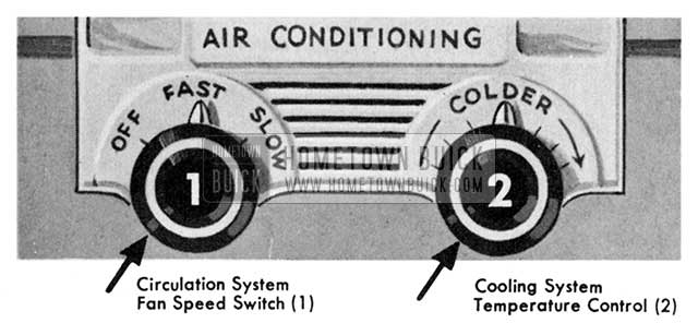 1955 Buick Air Conditioner Controls