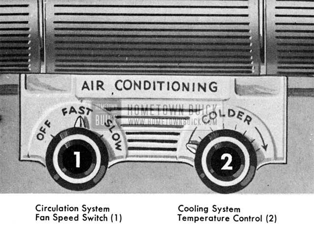 1955 Buick Air Conditioner Switch