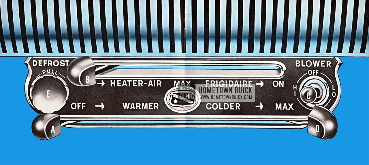 1956 Buick Heater & Defroster Controls