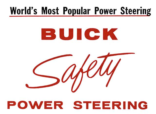 1957 Buick Power Steering Slogan 01