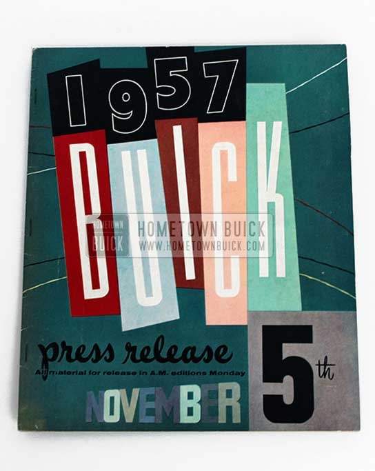 1957 Buick Press Release Kit