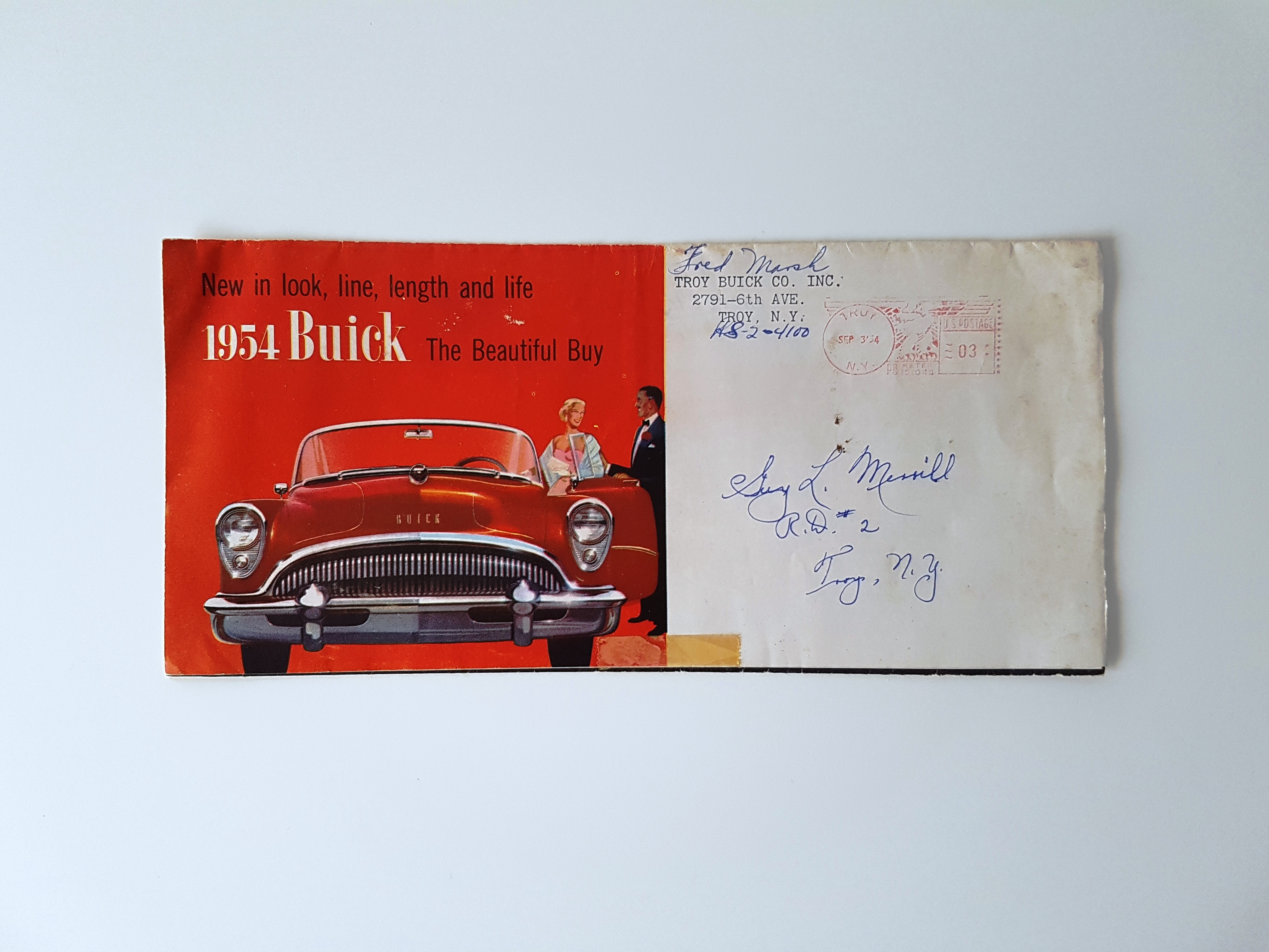 1954 Buick Sales Flyer Original Hometown Riviera Convertible Product Image