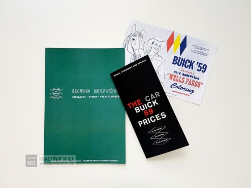 1959 Buick Value Package (REPRINTS) - Showroom Album + Prices Flyer + Coloring Book