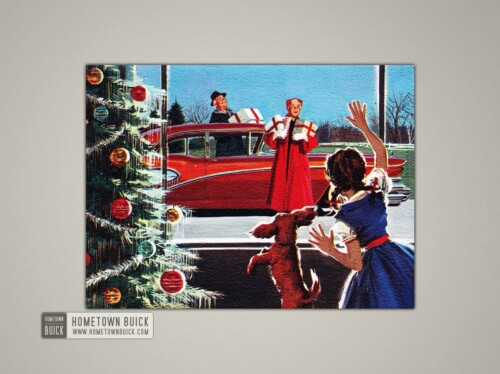 1958 Buick Christmas Card